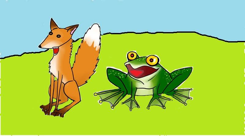 Kurbağa ile tilki masalı
