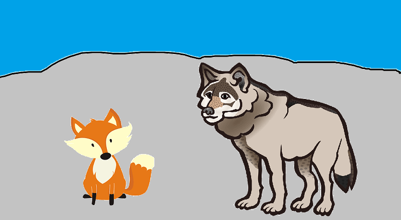 wolf and cunning fox fairy tales