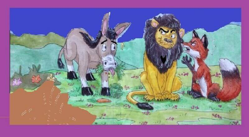 Donkey, Fox and Lion Fairy Tale